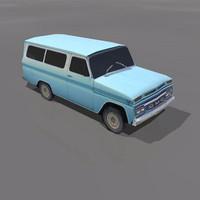 3d 1965 gmc suburban model