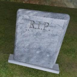 3d 3ds gravestone stone