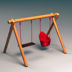 3ds max swing wooden