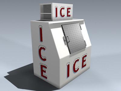 ice merchandiser 3d model