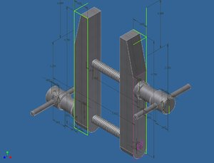 free clamp inventor 3d model