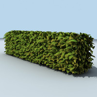 Low Poly Green leafs Hedge