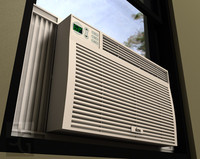 3d window air conditioner model