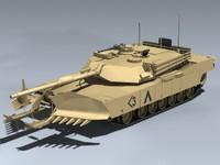 max m1a1 abrams plow tank