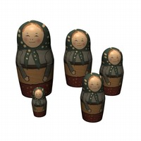 3d matrioshka doll