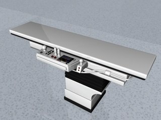 3d medical patient bed