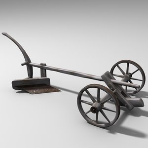 3ds max old plow