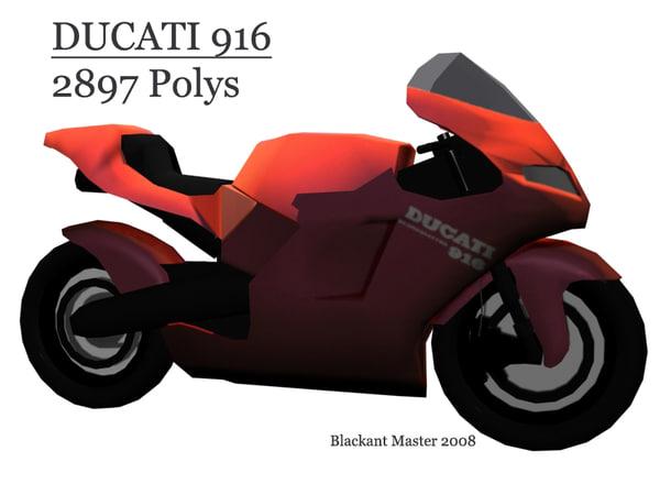 3ds max ducati 916
