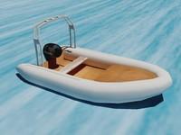 3d motorboat boat