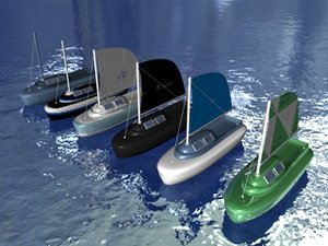 sail boats 3ds