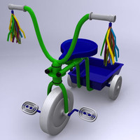 3d children child tricycle