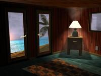 beach house scene 3d c4d