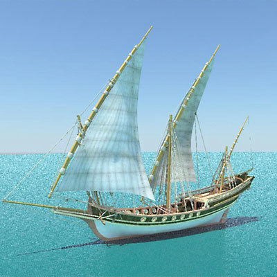 3d model sciabecco ship
