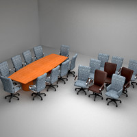 Cherrywood conference room table with chairs