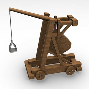weapon medieval catapult 3d max