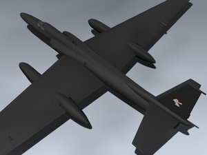 u-2r dragon lady 3d model