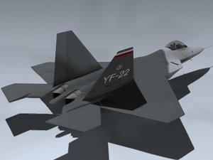 3d yf-22 f-22 model