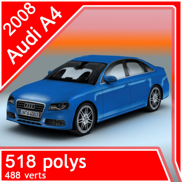 3d 2008 audi a4 sedan
