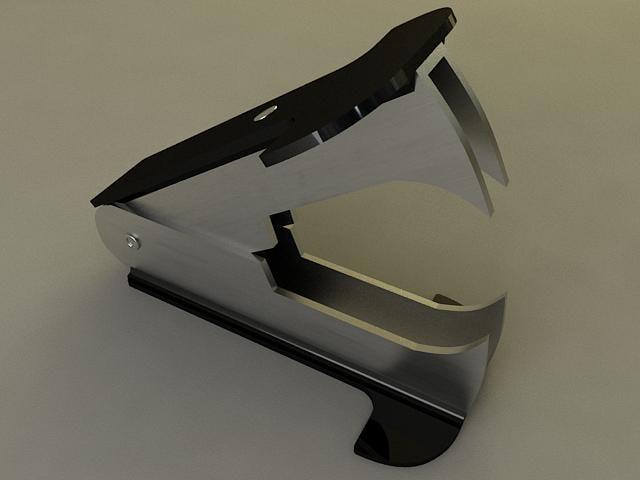 3d model of staple remover