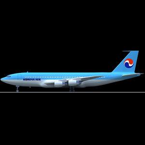 b 707 3d model