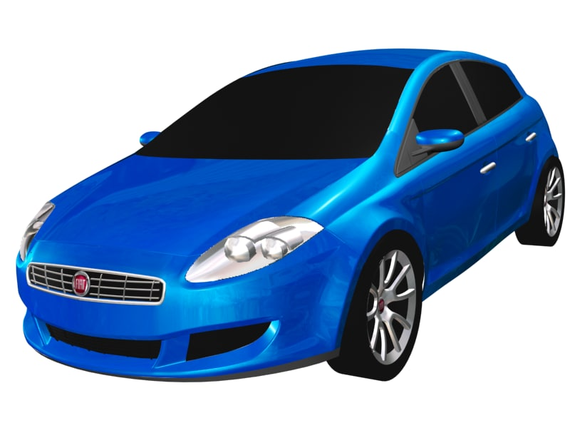 3d model of fiat bravo 2007
