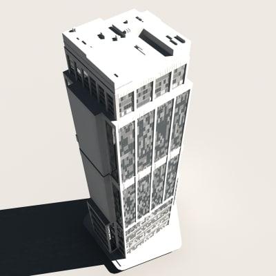 skyscraper buildings 3d max