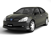 toyota allion 3d model
