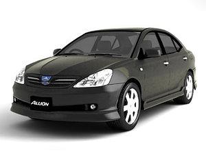 toyota allion 3d model
