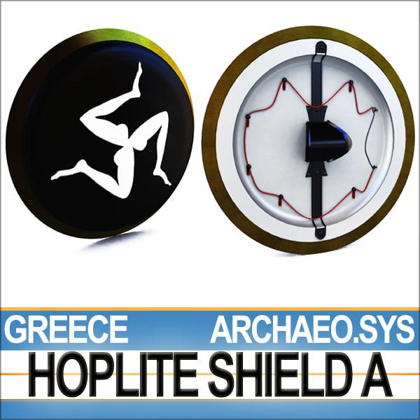 3d model greek hoplite shield greekhopliteshielda
