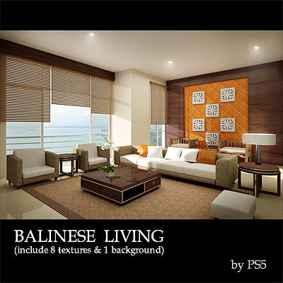 3ds max condominium living room balinese for Living room 3ds max
