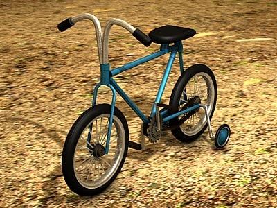 children bicycle c4d