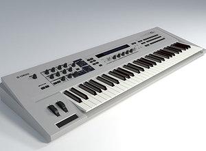 yamaha cs6x synthesizer 3d model