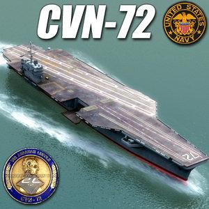 cvn-72 aircraft carrier cvn 3d 3ds
