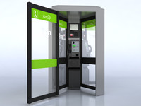 british card phone box 3d max