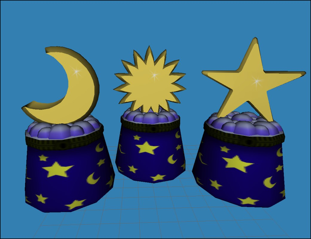 3d celestial boxes polys