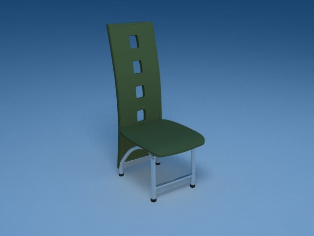 contemporary chair 3d lwo