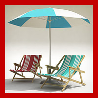 3ds beach chair umbrella