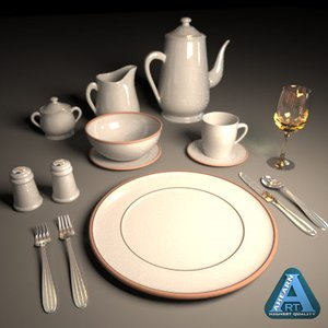 dinning ware 3d model