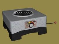 burner hotplate 3d model