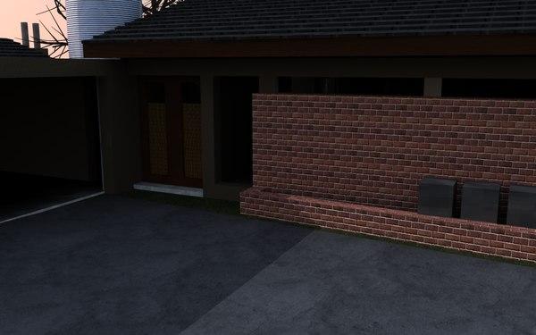 contemporary house c4d