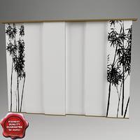3dsmax japan curtain