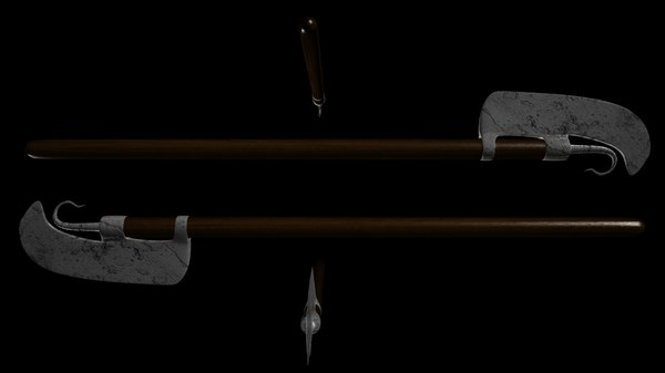weapons lochaber axe 3d model