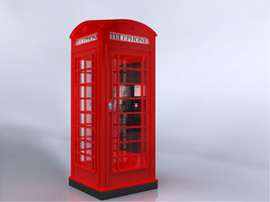 british red phone 3d model