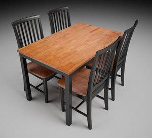 table chair 3d c4d