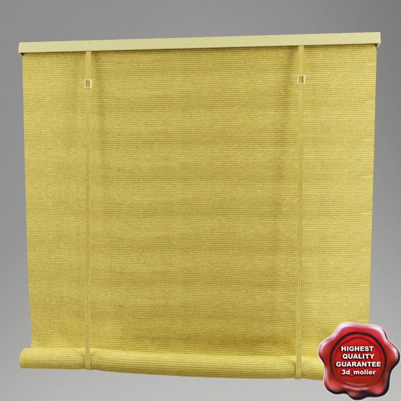 roll curtain 3d model