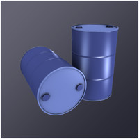 3d model 55 gallon drum