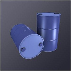 3d model 55 gallon drum