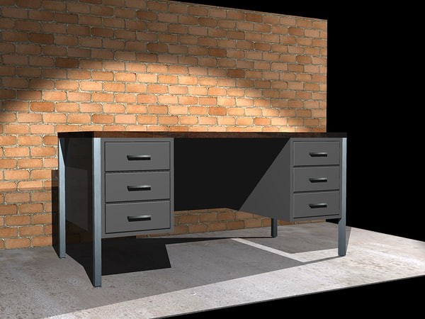 free dxf mode office desk