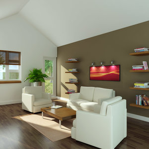 sitting room interior 3d model