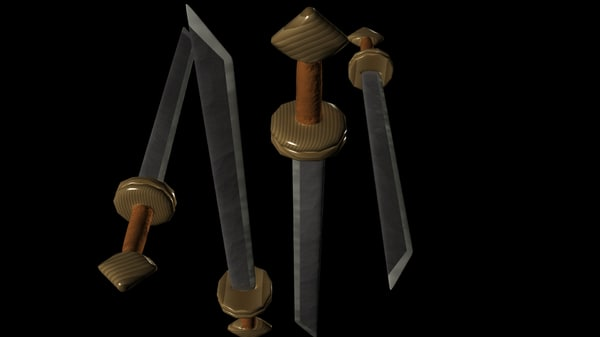viking sword 9th century 3d obj